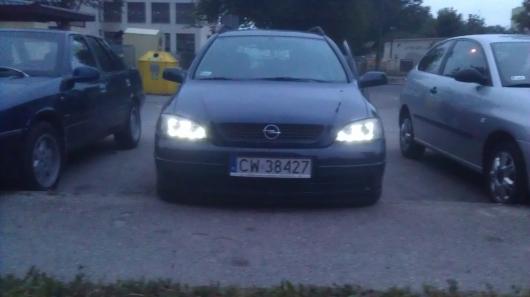 Opel Astra Gpl Nowe Lampy Angel Eyes Depo Black