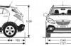 Opel Mokka - szkic auta - wymiary