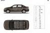 Peugeot 301 - szkic auta - wymiary